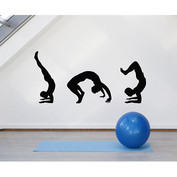 Vinyl Wall Decal Sports Physical Education School Fitness Exercise Stickers Mural (g2837)