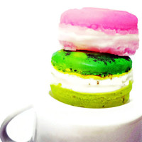 French Macaron Soap Favors - ONE Macaroon Paris Party Baby Shower Bridal Macarons - Food Soap Favour - Favor