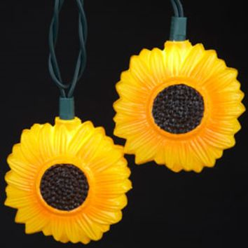 Sunflower Party String Lights - Oogalights.com - More Than 1,000 Party & String Light Bulbs!