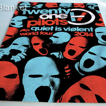 Twenty One Pilots poster for Custom Blankets Cover