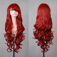 WigsLove Women's 80cm Hot selling Long Curly Pink Yellow Green Cosplay Wig Free Wig Cap Alternative Measures