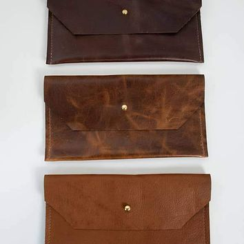 Leather Phone Clutch (Assorted Browns Leather)