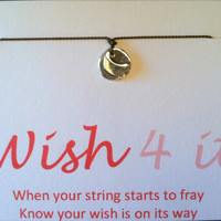 WISH FOR IT, Sterling Silver Artisan Heart Wish Bracelet, Friendship Bracelet, Charm Bracelet