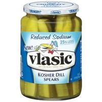 Walmart: Vlasic Kosher Reduced Sodium Kosher Dill Spears, 24 oz