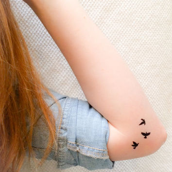 2 Sets Flying Birds Temporary Tattoos- SmashTat