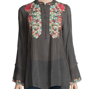 Eleanor Embroidered Tunic, Size:
