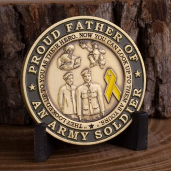 Proud Army Father Challenge Coin