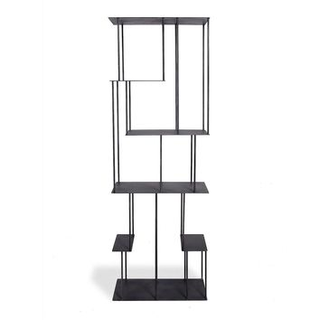 abcDNA Helix Steel Narrow Étagère Black