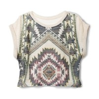 Xhilaration® Junior's Tribal Printed Sweater - Assorted Colors