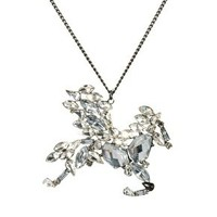 River Island Pegasus Pendant Necklace at asos.com