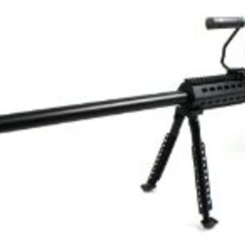 "Velocity Airsoft Snow Wolf .50 Cal Spring Airsoft Gun, 45"" Heavyweight Sniper Rifle FPS-400, Precision Full Metal Barrel"