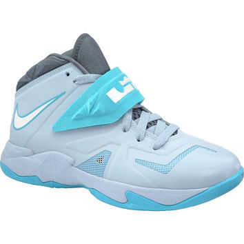 NIKE Boys' LeBron Zoom Soldier VII Mid Basketball Shoes
