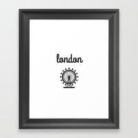 London Framed Art Print by Love from Sophie