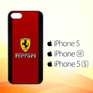 Ferrari Logo Red Carbon L1959  iPhone 5|5S|SE Case