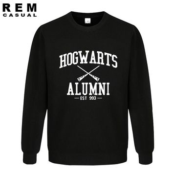 fashion cotton men letter designed Harry Potter hogwarts alumni pattern trendy Hipster Hoodies, Sweatshirts