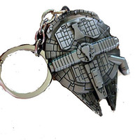 "Star Wars ""Millinnium Falcon"" Large Key Chain"