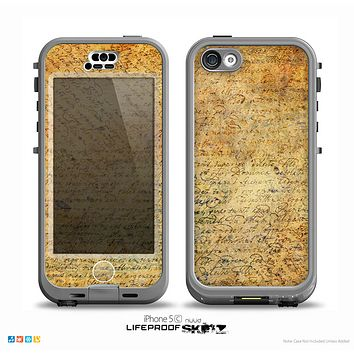The History Word Overlay V2 Skin for the iPhone 5c nüüd LifeProof Case
