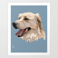 Golden Retriever Dog Art Print by Aimee Liwag