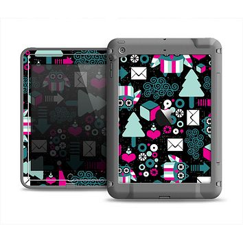The Pink & Teal Owl Collaged Vector Shapes Apple iPad Mini LifeProof Fre Case Skin Set