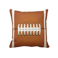 Football Throw Pillow from Zazzle.com