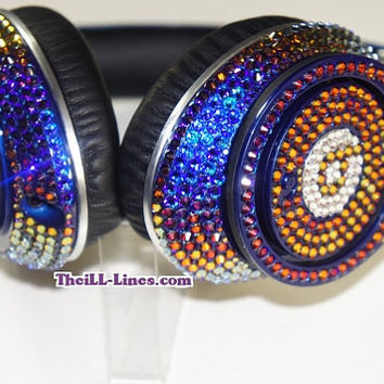 Customized Beats by Dre Headphones   Celebrity Status  Iridescent   Free Studio Beats Sale  Limited Time Only