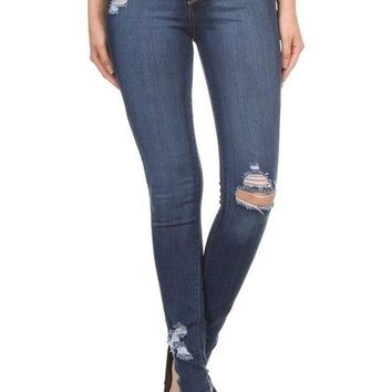 DCCKAB3 Encore Plus Size High Rise Distressed Skinny Jeans