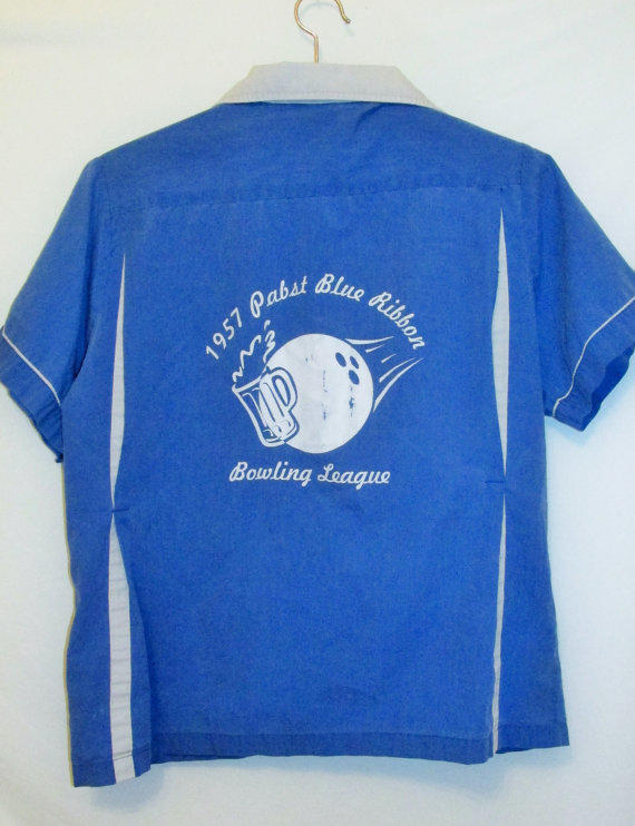 vintage pabst blue ribbon bowling shirt from