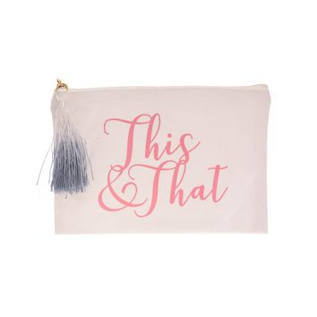 PINK THIS AND THAT TASSEL MAKEUP BAG