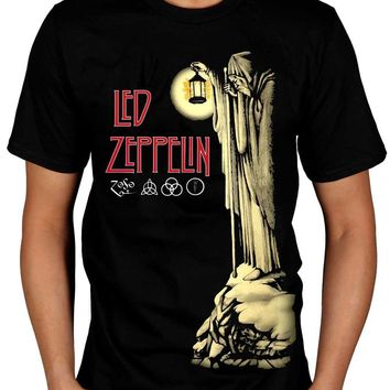 Led Zeppelin Hermit T Shirt Stairway To Heaven Hermit Punk Rock Indie T Shirt Hipster Tops Custom Tees