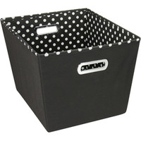 Decorative Storage Bin - Black