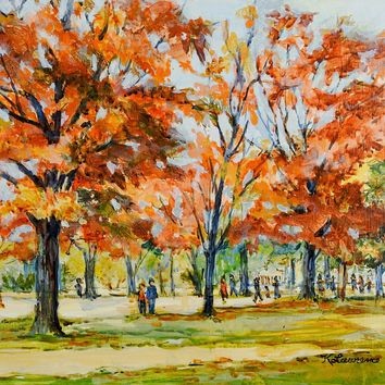 Autumn At Hermitage Park Painting by Kathleen Lawrence