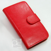 iPhone 3GS Wallet Case iPhone 3S Leather Case iPhone 3G Wallet iPhone 5C Case iPhone 5 Flip Case iPhone 4 Wallet Case iPhone 5S Cover Red FP