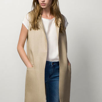 LONG LINEN WAISTCOAT - View all - Jackets - WOMEN - United Kingdom