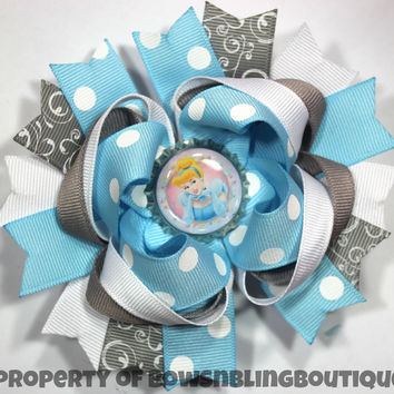 Cinderella Hair bow Boutique Bows