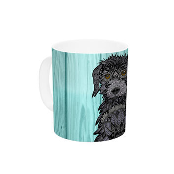 "Art Love Passion ""Daisy and Gatsby"" Abstract Puppies Ceramic Coffee Mug"