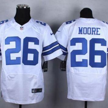 DCCK8X2 Nike Dallas Cowboys #26 Sterling Moore White NFL Elite Jersey