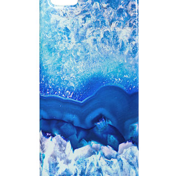 Blue Agate Geode Print iphone 5 & 5S Plastic Case All Over Print