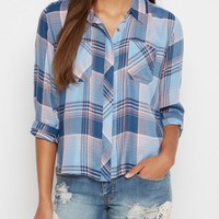 Blue Plaid Button Down By Sadie Robertson x Wild Blue™ | Plaids & Flannels | rue21