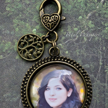 Custom Photo Keychain Clip- Photo Keepsake - Custom Photo Gift - Gifts Under 20 - Personalized Keychain Clip - Custom Photo Clip
