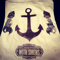 Sleeping With Sirens Anchor and Mermaids Shirt