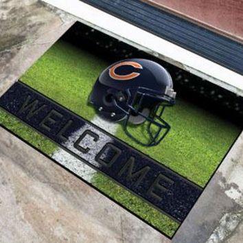 Chicago Bears Door Mat 18x30 Welcome Crumb Rubber
