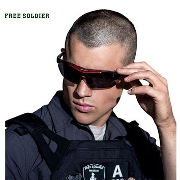 FREE SOLDIER Outdoor Sports Tactical Polarized Glass Men's Shooting Glasses Airsoft Glasses Myopia For Camping Hiking Cycling