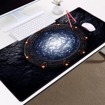 Congsipad Famous Sci-fi Movie TV Show Stargate Earth Sg1 Pattern Cool Table Mousepad Mat for Pc Computer Game Gaming Player