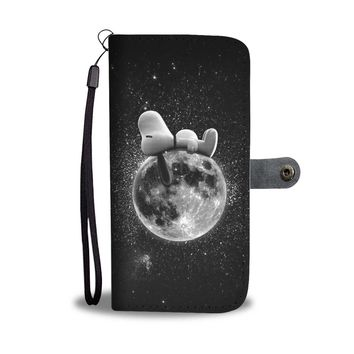 KUYOU Snoopy Napping On The Moon Wallet Phone Case
