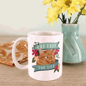 Emily McDowell Cat Lady Mug - The Afternoon