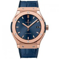 Hublot Classic Fusion Blue King 33mm 581.OX.7180.LR Rose Gold Watch | World's Best