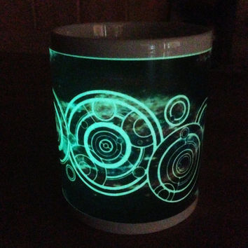 Your Name in Gallifreyan Personalised Dr Who Glow in the Dark  Mug