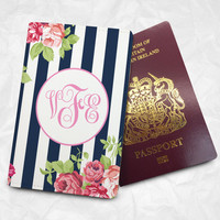Rose@Ribbon Personalised Custom Name Passport Cover Passport Holder with FREE Name Printing (BBS027)