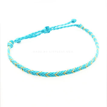 Braided Friendship Bracelet - Best Friend Bracelet - Best Friend Gift - Gift for Her - Braided Bracelet - Turquoise Bracelet