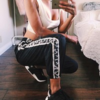 Women'S Casual Black Sweatpants